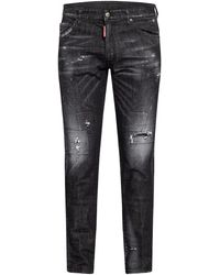 DSquared² Destroyed Jeans COOL GUY Extra Slim Fit - Schwarz