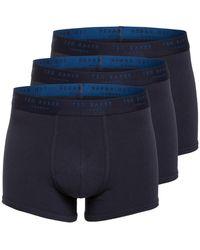 Ted Baker 3er-Pack Boxershorts - Blau