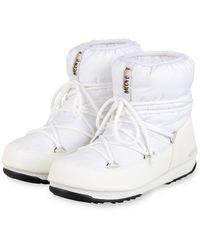 Moon Boot S NYLON LOW WP 2 - Weiß
