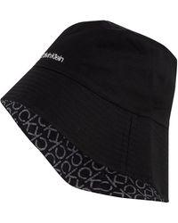 Calvin Klein Bucket-Hat zum Wenden - Schwarz