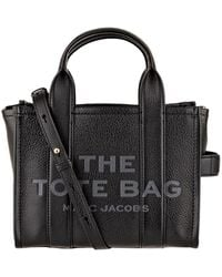 Marc Jacobs The Leather Mini Tote Bag Twine - Rot