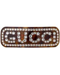 Gucci Einzelne Haarspange mit Kristall-Motiv - Mehrfarbig