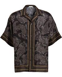 Etro Halbarm-Resorthemd Comfort Fit - Schwarz