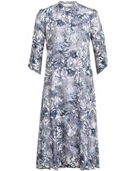 NORR Kleid ALICE mit 3/4-Arm - Blau