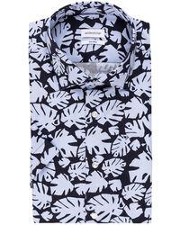 Seidensticker Kurzarm-Hemd Shaped Fit - Blau