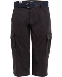 S.oliver Cargo-Shorts Loose Fit - Schwarz
