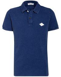 Replay Piqué-Poloshirt - Blau