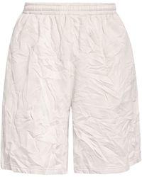 Balenciaga Oversized-Sweatshorts - Natur