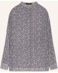 Windsor. Bluse mit Seide - Grau