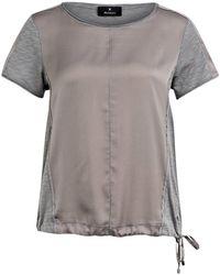 Monari Blusenshirt im Materialmix - Grau