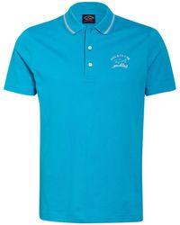 Paul & Shark Piqué-Poloshirt - Blau