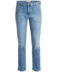 Ba&sh Cropped-Jeans SALLY - Blau