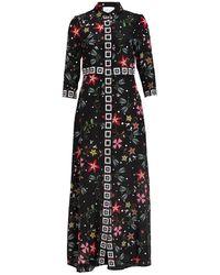 Hayley Menzies Hemdblusenkleid mit 3/4-Arm - Schwarz