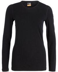 Icebreaker Funktionswäsche-Shirt 200 OASIS aus Merinowolle - Schwarz