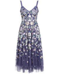 Needle & Thread Kleid mit Paillettenbesatz - Blau