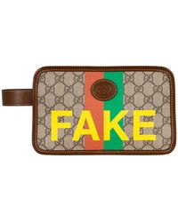 Gucci Kosmetiktasche GG SUPREME FAKE/NOT - Mehrfarbig