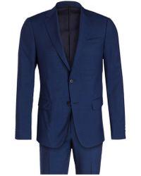 Etro Anzug Regular Fit - Blau