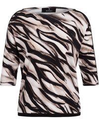 Monari T-Shirt mit Galonstreifen - Mehrfarbig
