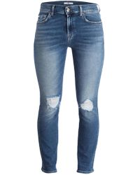 7 For All Mankind - Destroyed-Jeans - Lyst