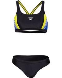 Arena Bustier-Bikini THREEFOLD - Blau