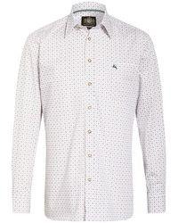 hammerschmid Trachtenhemd Slim Fit - Mehrfarbig