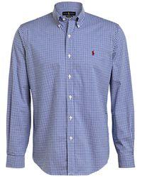 Polo Ralph Lauren Hemd Custom Fit - Blau