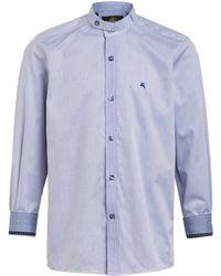 hammerschmid Trachtenhemd mit Stehkragen - Blau