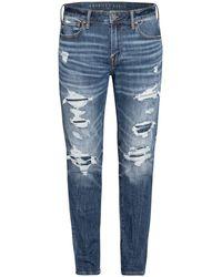 American Eagle Destroyed Jeans AIRFLEX+ Athletic Skinny Fit - Blau
