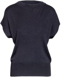 Windsor. Strickshirt aus Seide - Blau