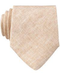 Reiss Krawatte TOULOUSE aus Leinen - Natur