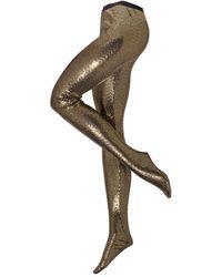 Gucci Strumpfhose mit Paillettenbesatz und Glitzergarn - Mettallic