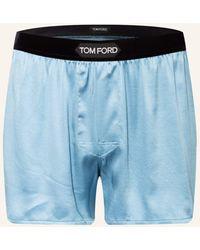 Tom Ford Satin-Boxershorts aus Seide - Blau