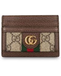 Gucci Kartenetui OPHIDIA GG SUPREME - Braun