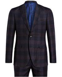 Etro Anzug Slim Fit - Blau
