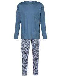 Mey Schlafanzug Serie PERHO - Blau