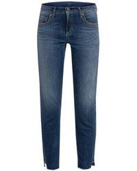 Cambio Jeans LIU mit Schmucksteinbesatz - Blau