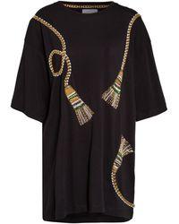 Hayley Menzies Jerseykleid mit Paillettenbesatz - Schwarz