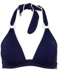 Aubade Neckholder-Bikini-Top LA BAIE DES VAGUES - Blau
