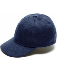 Brioni - Navy Blue Baseball Hat - Lyst