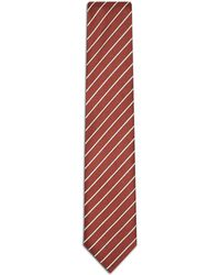 Brioni - Red And Pearl Regimental Tie - Lyst