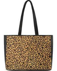Brix + Bailey Leopard Print Hair On Hide Horizontal Tote - Multicolour