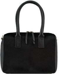 Brix + Bailey Black Hair On Hide Cross-body Grab Bag