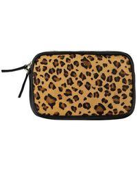 Brix + Bailey Leopard Print Hair On Hide Leather Cross-body Camera Bag - Multicolour