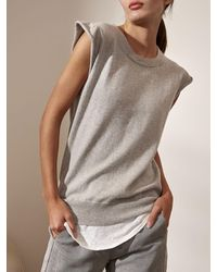 Brochu Walker The Gigi Looker Layered Tank - Grey