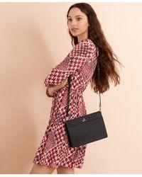 Brooks Brothers Saffiano Leather Cross-body Bag - Black