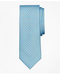 Brooks Brothers Horseshoe Print Tie - Blue