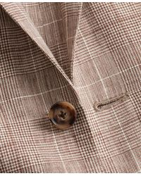 Brooks Brothers Madison Fit Linen Check Sport Coat - Natural