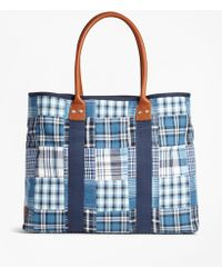 Brooks Brothers - Patchwork Tote Bag - Lyst