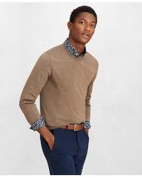 Brooks Brothers Golden Fleece 3-d Knit Fine-gauge Merino Crewneck Sweater - Brown