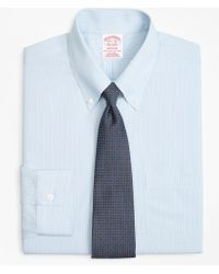 Brooks Brothers - Madison Classic-fit Dress Shirt, Non-iron Hairline Alternating Stripe - Lyst